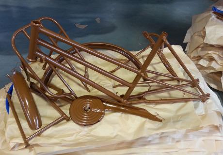 bici terminata con verniciatura a polvere